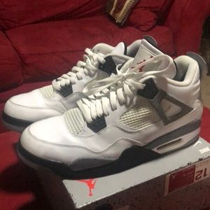 Air Jordan 4 retro white/black-cement grey